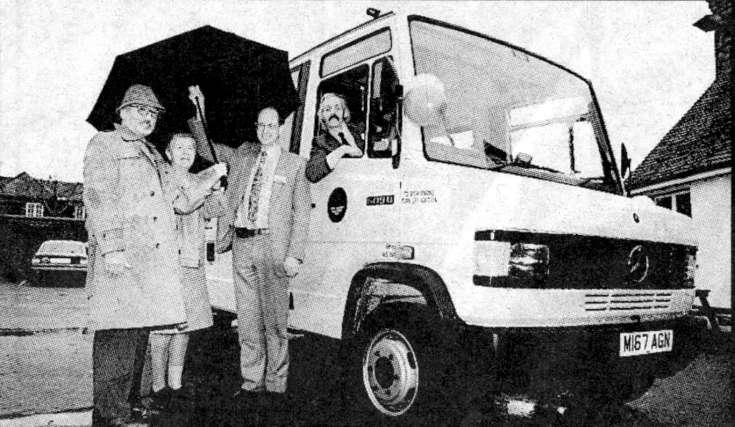 The launch of the Slaugham Parish community bus