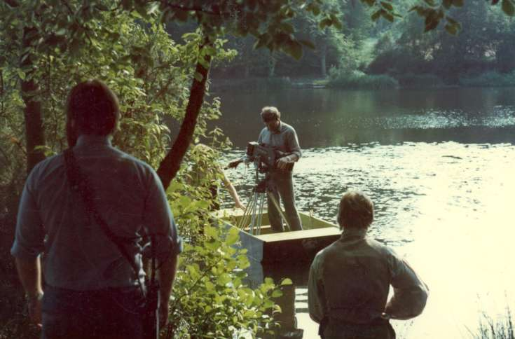 BBC filming at Slaugham Furnace Pond (1 of 2)