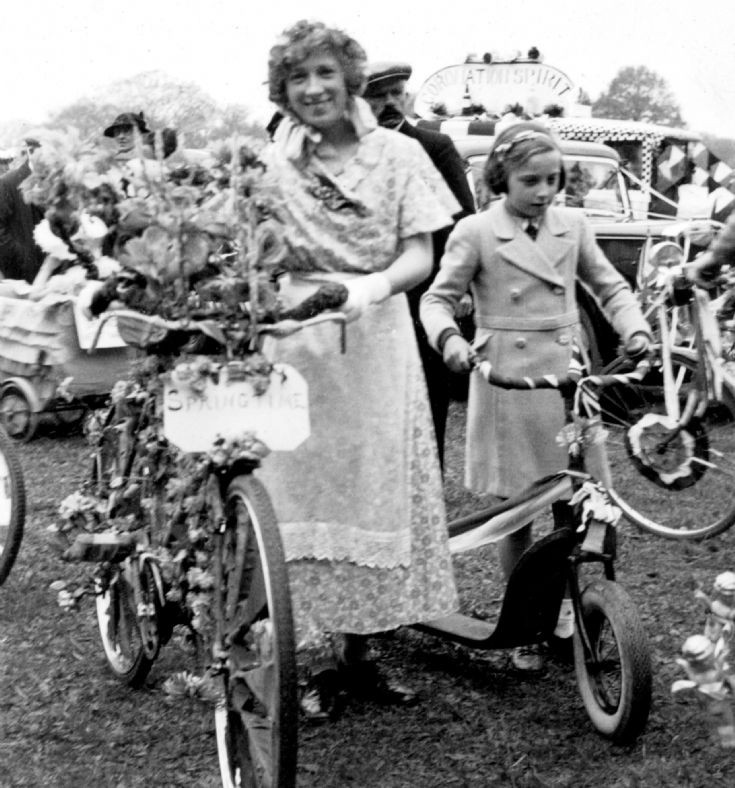 Coronation of George VI - Bicycle and scooter