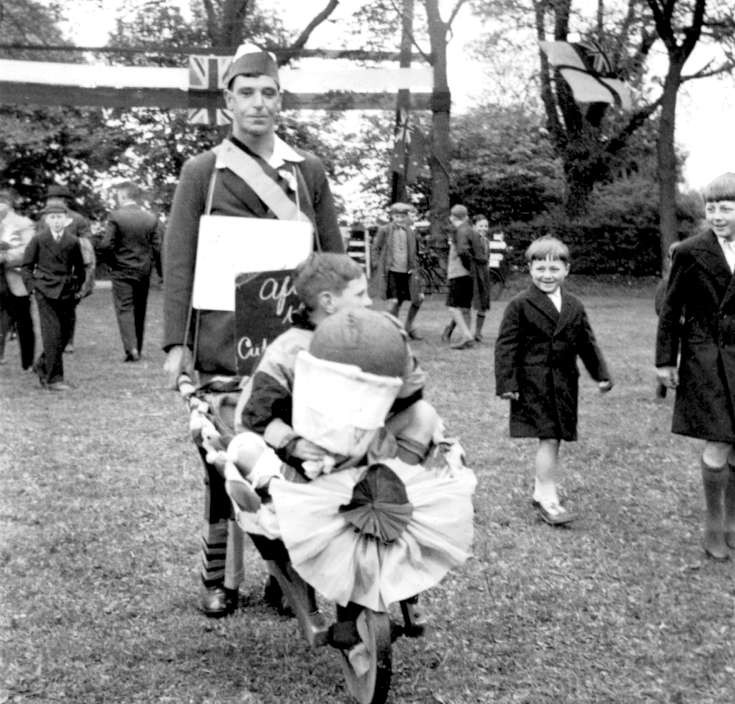 Coronation of George VI - Wheelbarrow and football