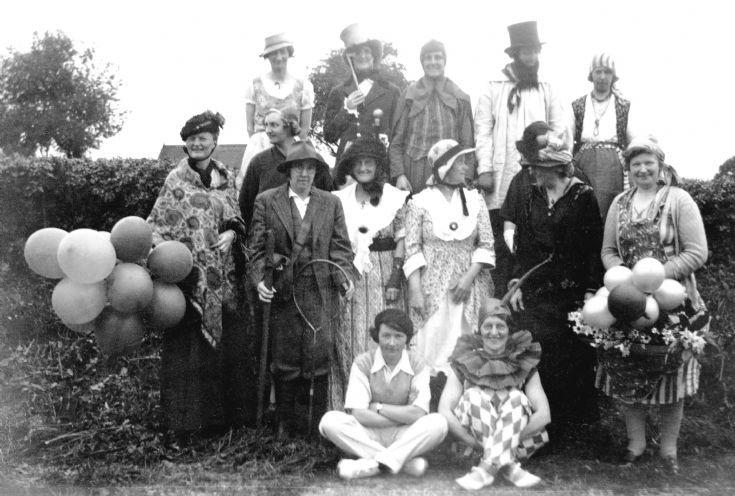 Handcross Women's Institute in fancy dress