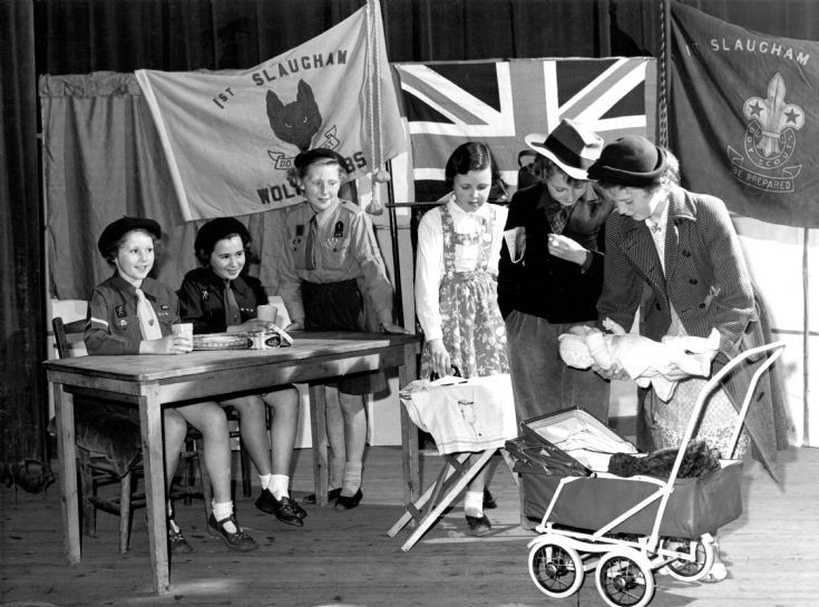 Handcross Girl Guides in a play