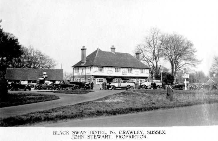 Buses outside the Black Swan