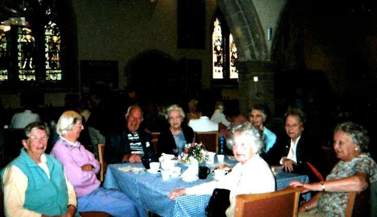 Senior ciizens in St Mary's church, Slaugham