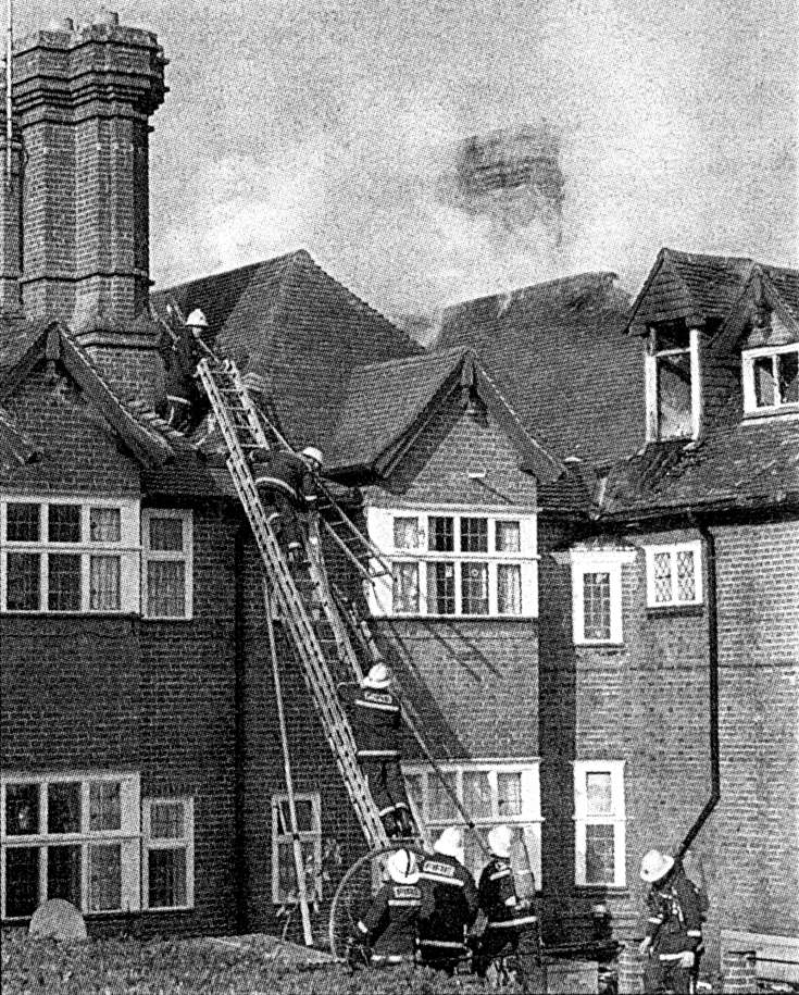 Fire at Slaugham Manor, forrnerly Slaugham Place