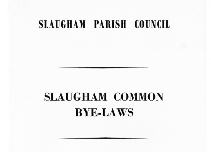 Bye-laws of Slaugham Common and Furnace Pond