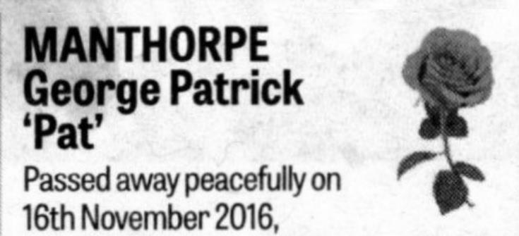 Pat Manthorpe R.I.P.