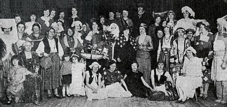 Handcross Women's Institute fancy dress party