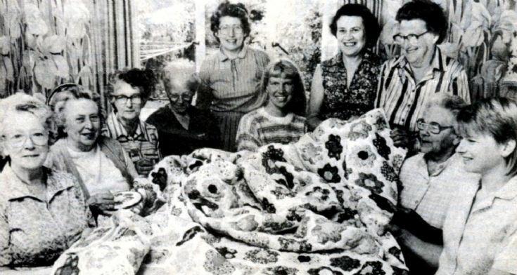 Handcross Women's Institute make patchwork quilt