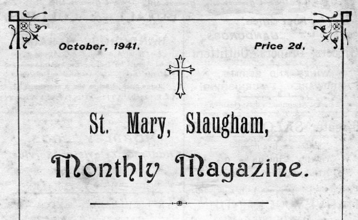 Slaugham Parish magazine for October 1941