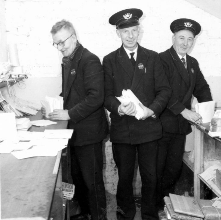 Postmen in the sorting room in Handcross