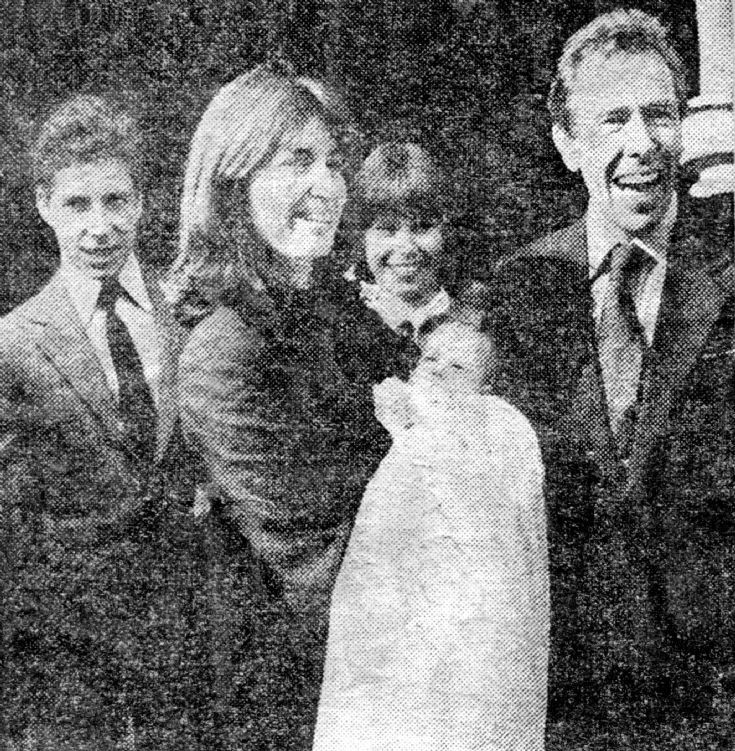 Lord Snowdon and Lucy at baby's christening
