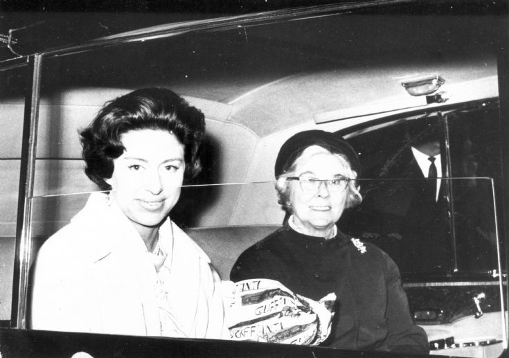 Princess Margaret with Pease Pottage maid