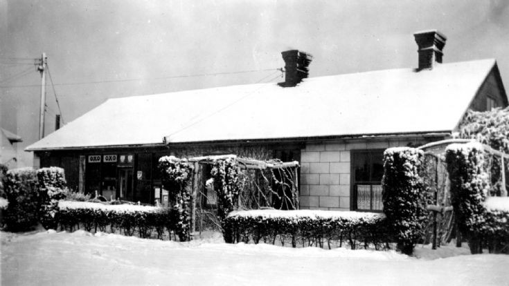 Slaugham Post Office and stores in the snow