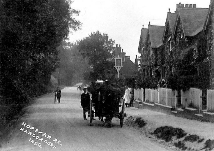 Horse and cart in Horsham Road, Handcross