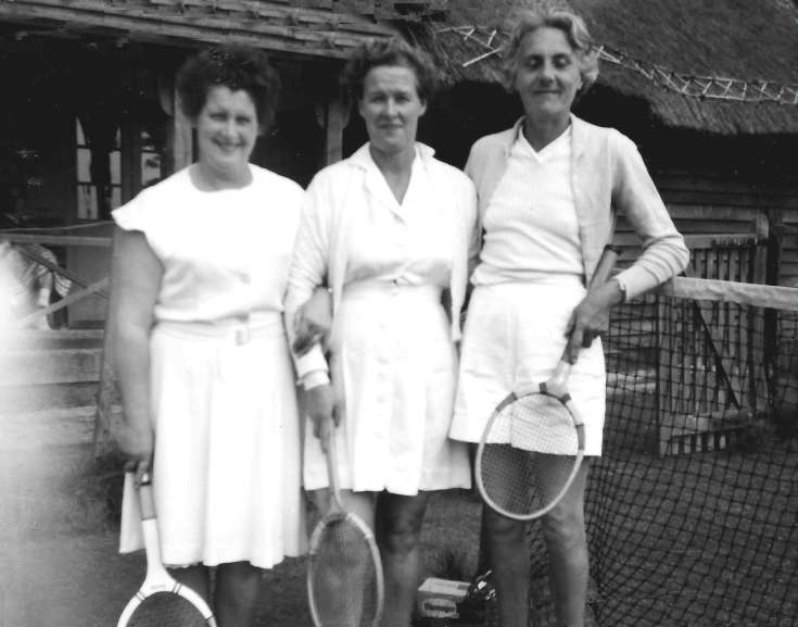 Three tennis ladies of Handcross