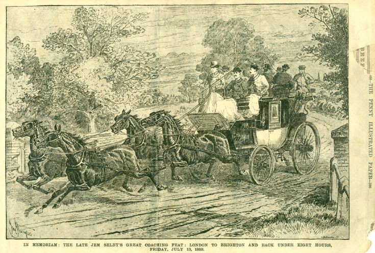 Stagecoach in Penny Illustrated of 1888