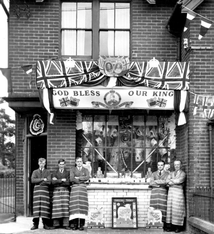 Butchers shop decorated for coronation (2 of 2)