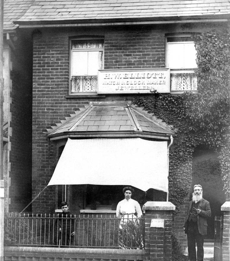 Henry Elliott outside Oakley Cottages
