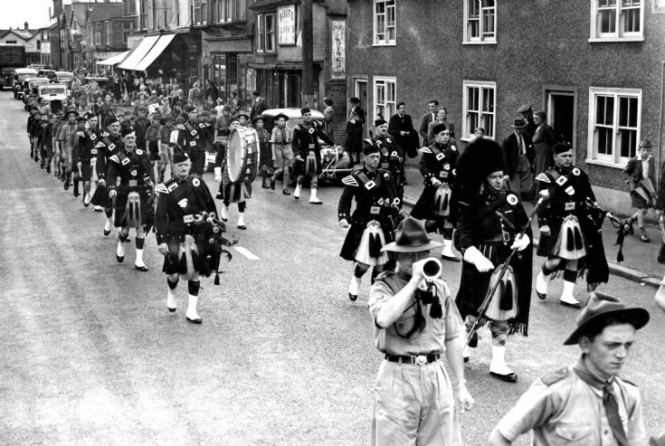 Scouts parade in Handcross High Street