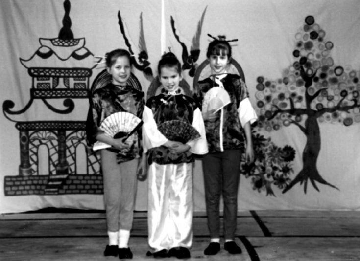 Three little maids at Handcross School