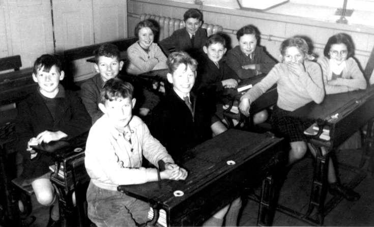 A senior class at Handcross School