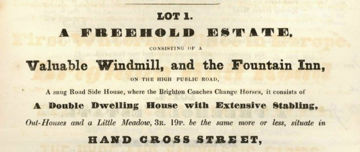 Auction 1836 (2 of 8) - Fountain Inn and windmill