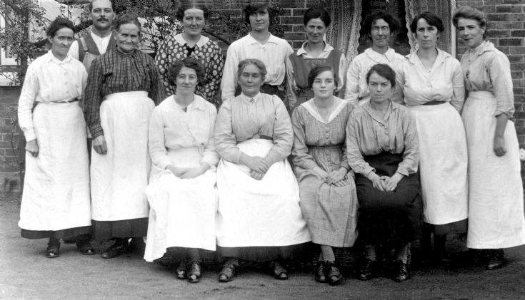 Country house staff, perhaps at Woodhurst