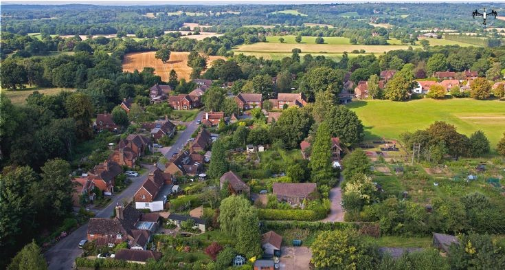 Warninglid aerial photograph