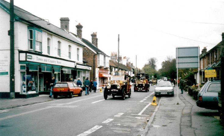 Veteran car run in Handcross High Street