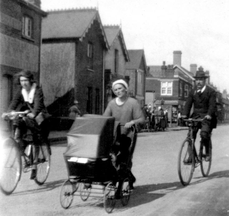 Pram race in Handcross High Street