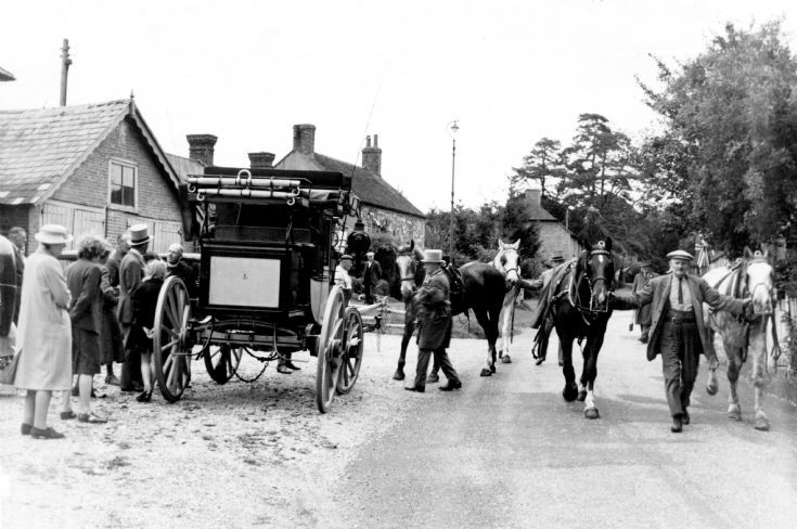 Stagecoach at Chequers Inn in Slaugham