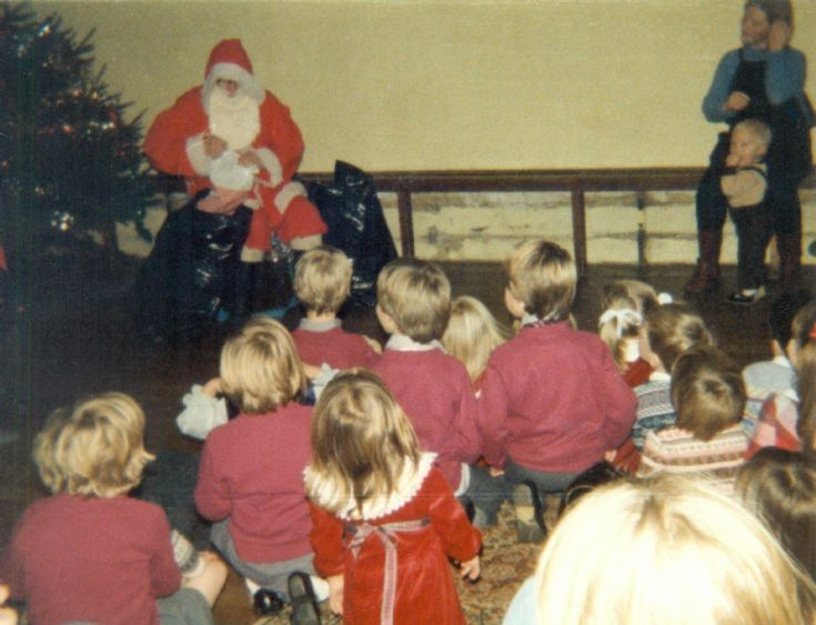 Father Christmas visits Handcross