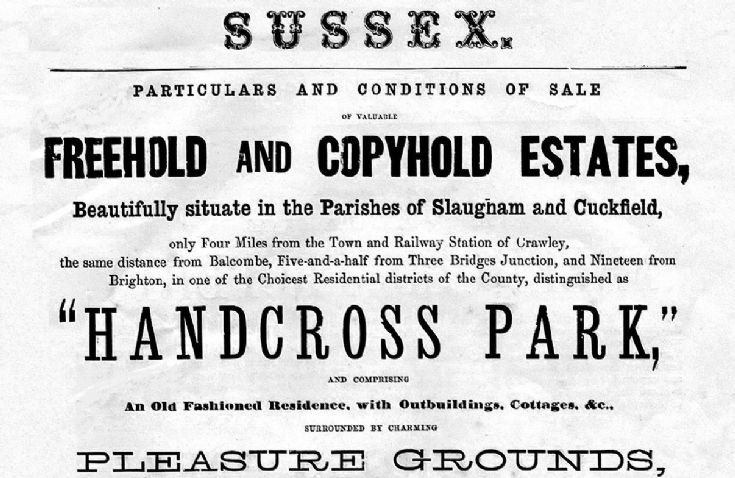 Auction of Handcross Park Estate 1873 (1 of 2)