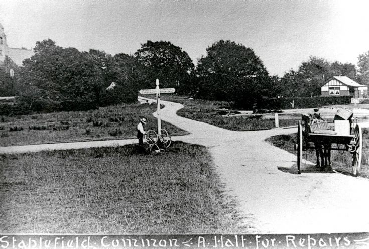 A puncture on Staplefield Common