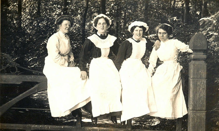 Four domestic staff of High Beeches