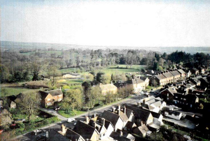 Aerial picture of Handcross High Street