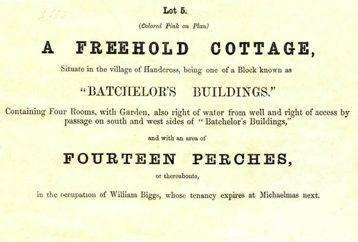 Auction sale of No.1 Batchelors Buildings