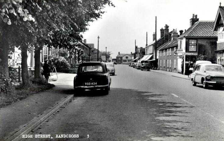 Outside Chodds, Handcross High Street