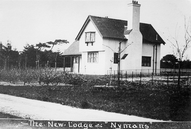 The new lodge at Nymans