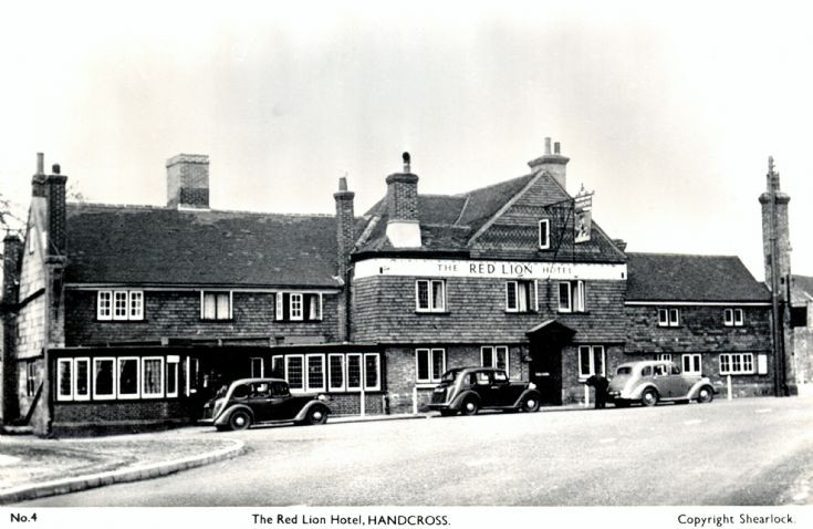 Cars parked at the Red Lion, Handcross