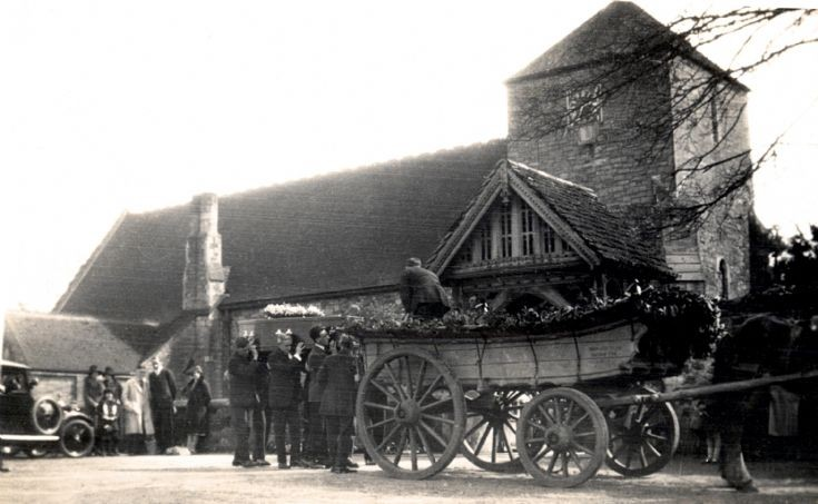 Funeral of Philip Secretan at Slaugham church