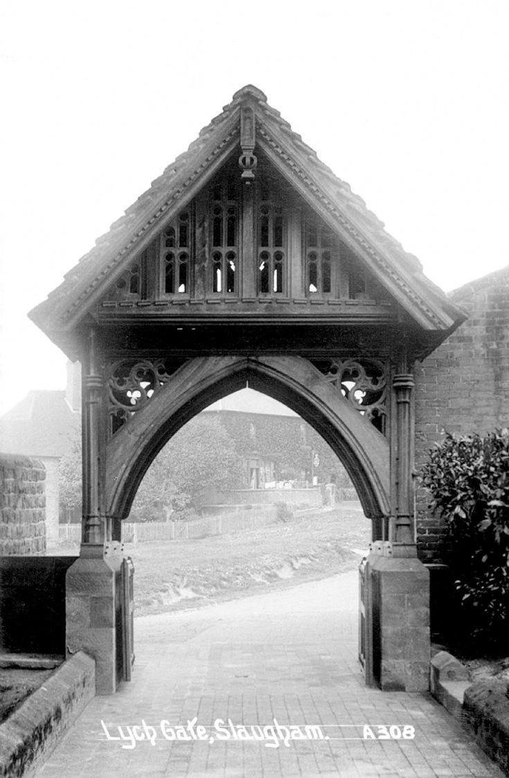 Lych gate at Slaugham church