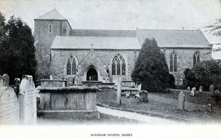 Slaugham church in monochrome