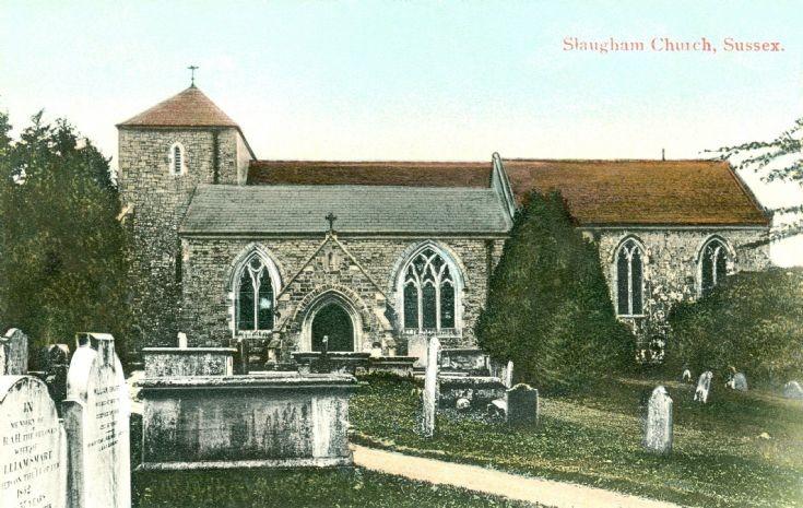 Slaugham church in Technicolor