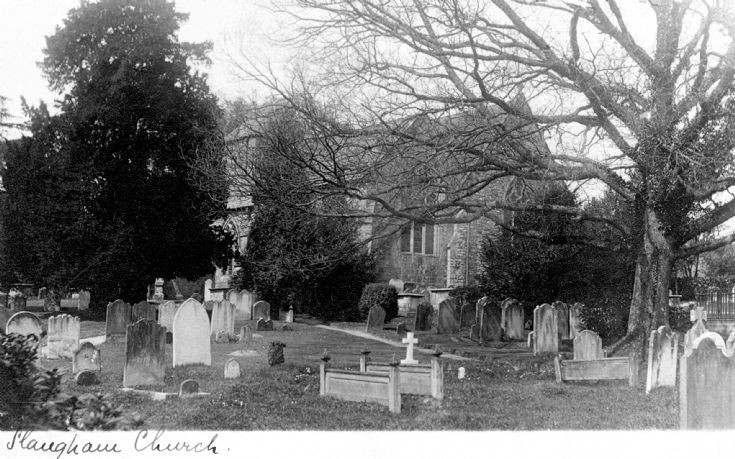 Winter in Slaugham churchyard