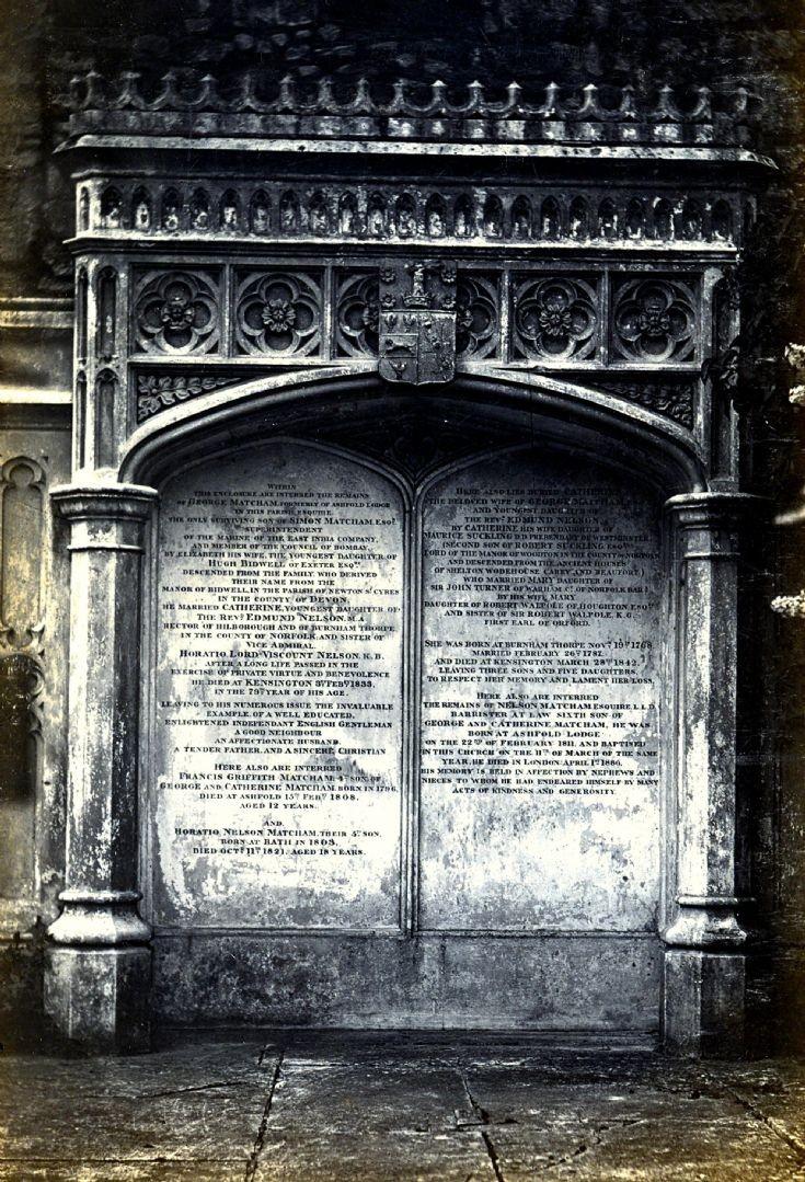Matcham tomb at Slaugham church