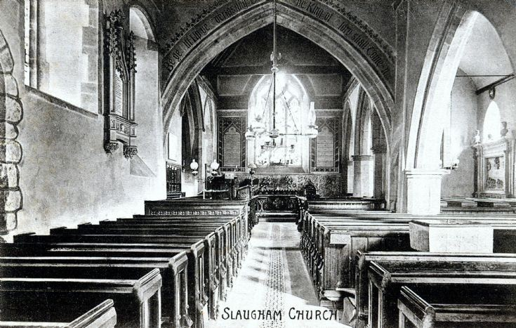 Interior of Slaugham church and Covert tomb