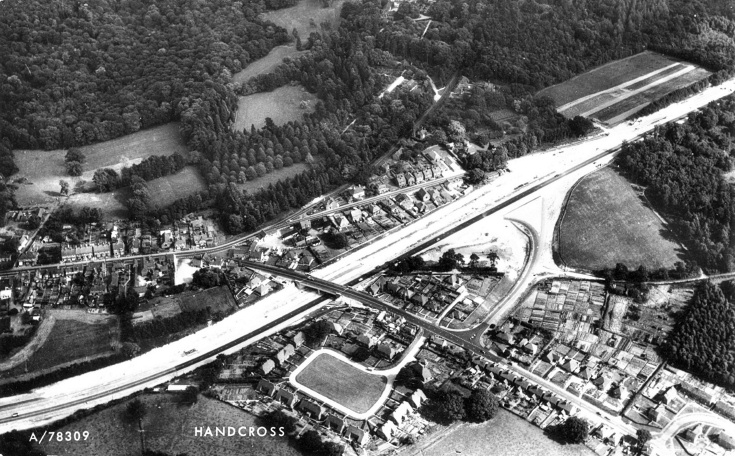 Aerial view of Handcross new bypass