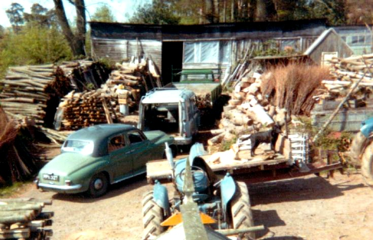 B T Kinnard and Son's yard with Rover car